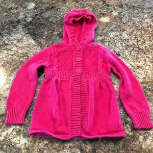 Arizona Jean Co pink hooded sweater size 4T